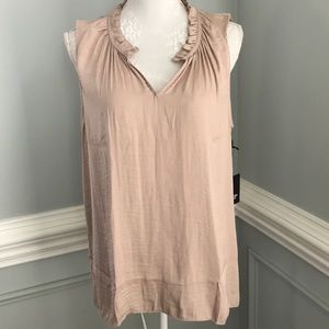 NWT Simply Vera Rouched Neck Ruffle Linden SZ L